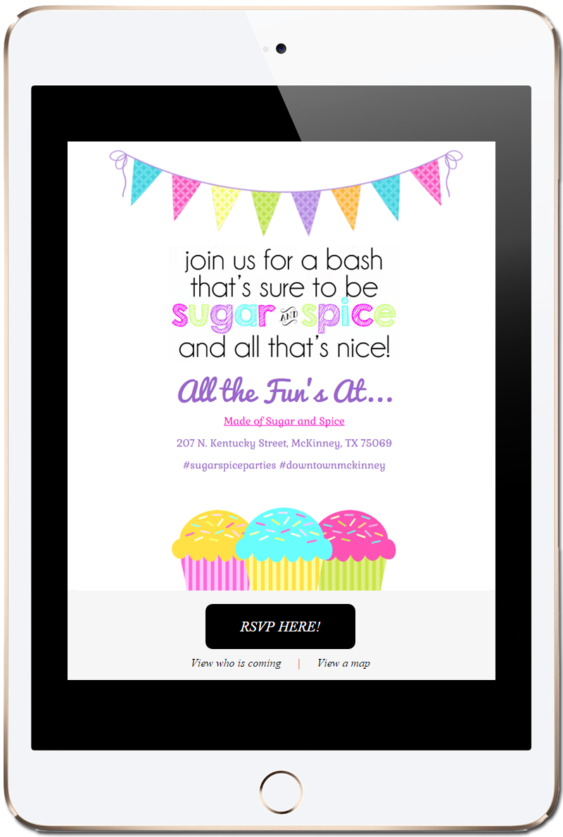 Offer invitations on your business website branded online invites stopboris Gallery